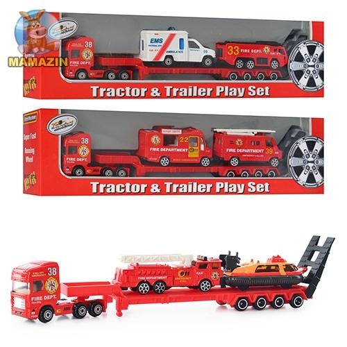Набор машинок железных, пожарная техника