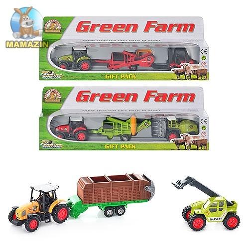 Набор машинок железных, сельхоз техника