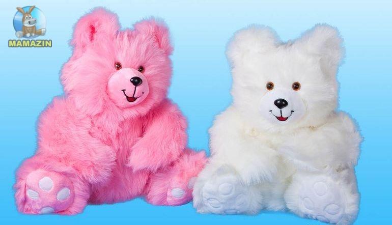 Мягкая игрушка Медведь Сластена, розовый