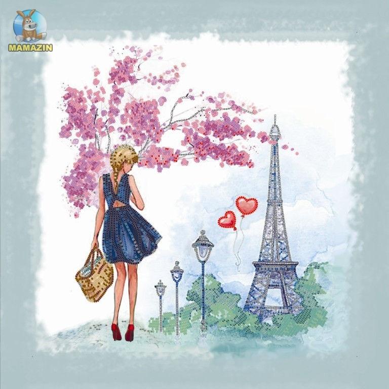 Вышивка бисером Весна в Париже