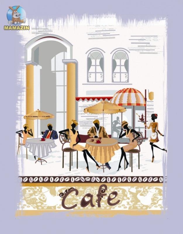 Вышивка бисером Городское кафе
