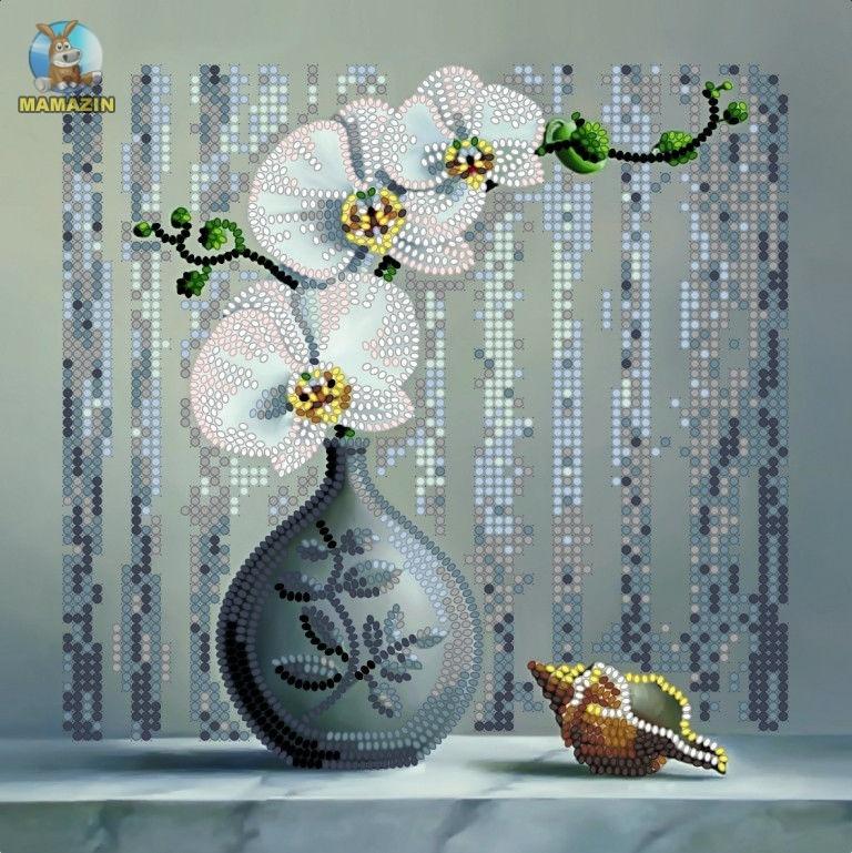 Вышивка бисером Орхидея