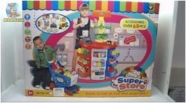 Столик-магазин, касса, продукты