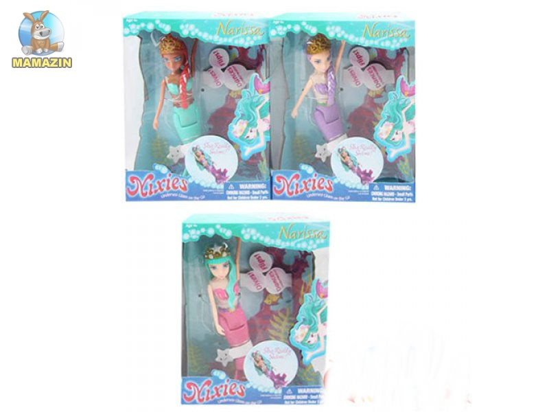 Кукла русалка 15,5 см, плавает