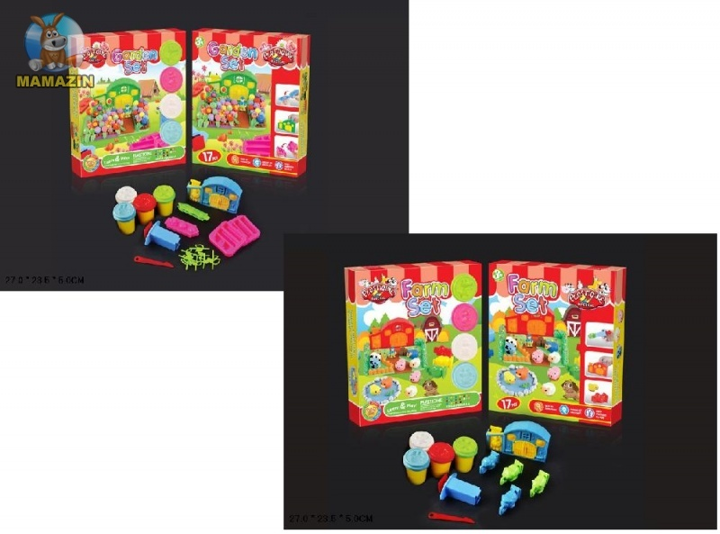 Набор игрового пластилина с формочками