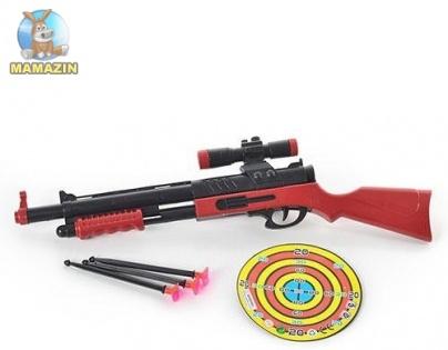 Ружье на присосках с мишенью