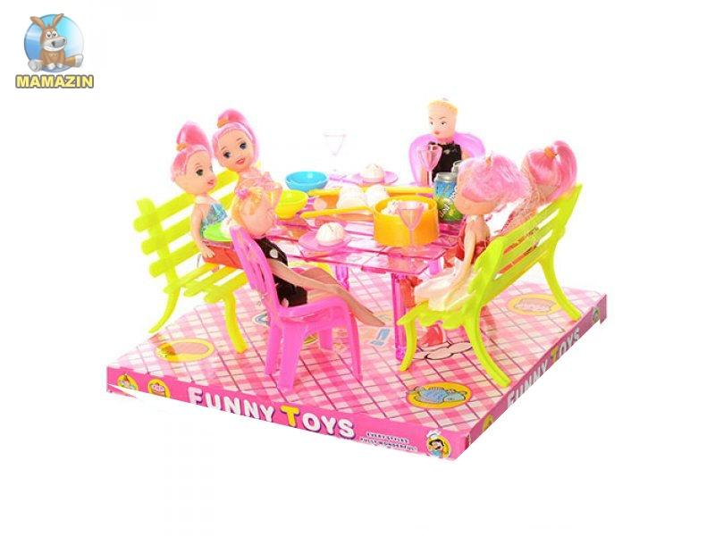 Столовая для мини кукол