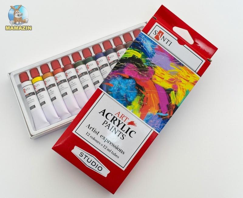 Краски акриловые Santi Studio набор