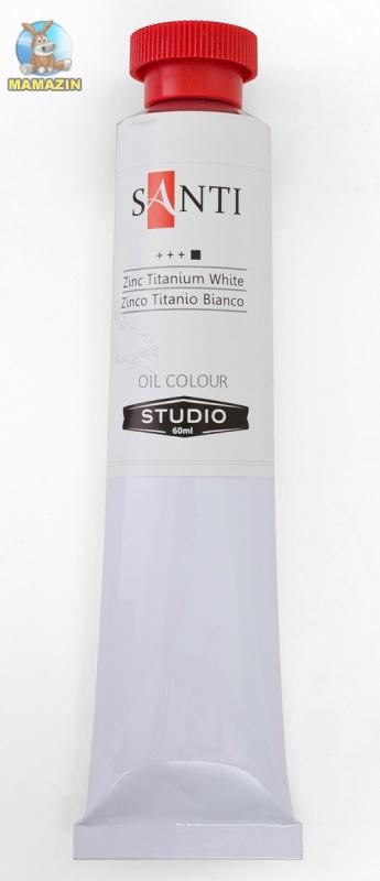 Краска масляная Santi Studio 60мл Белила титановые