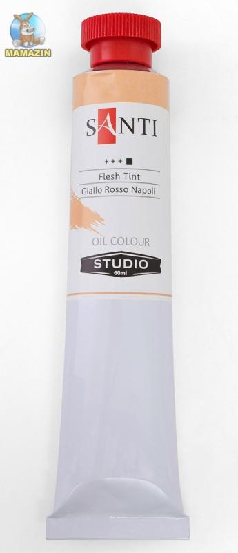 Краска масляная Santi Studio 60мл Неаполитанский желто-красный