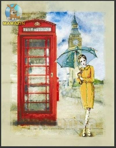 Вышивка бисером Лондонский дождь