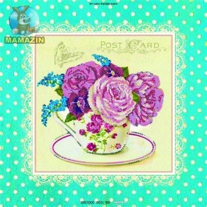 Вышивка бисером «Розы шебби шик»