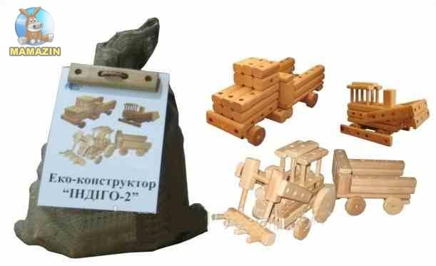 """Эко-конструктор """"Индиго-2"""", деревянный"""