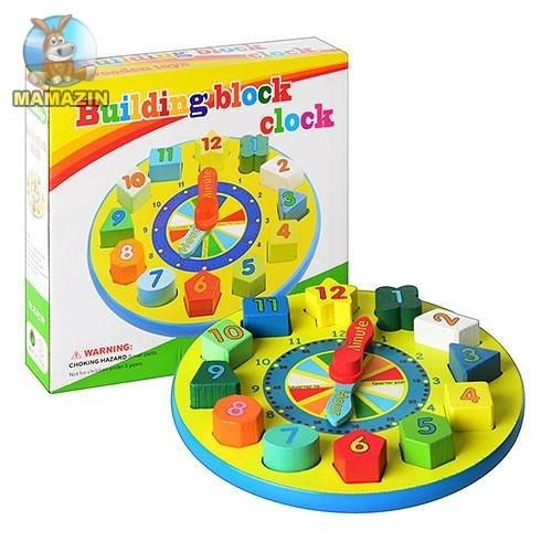 """Деревянная игрушка """"Часы"""""""