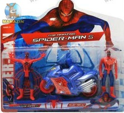 Спайдермен с мотоциклом