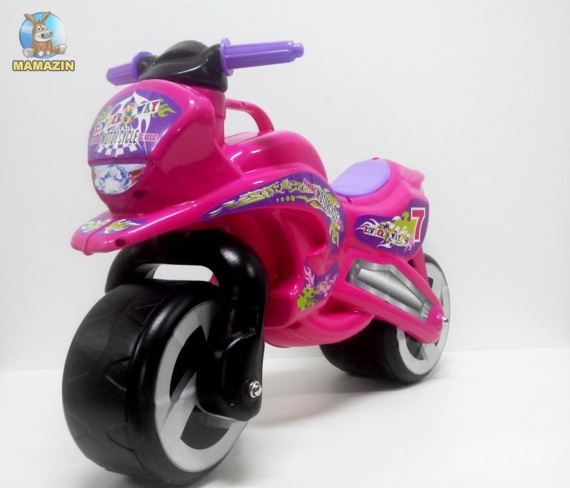 "Каталка ""Мотоцикл"" РОЗОВЫЙ"