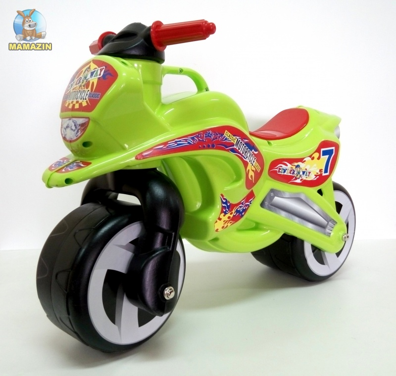 "Каталка ""Мотоцикл"" САЛАТОВЫЙ"
