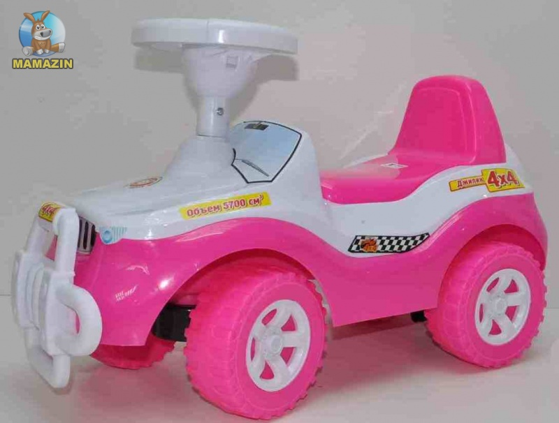 Каталка Джипик, розовый