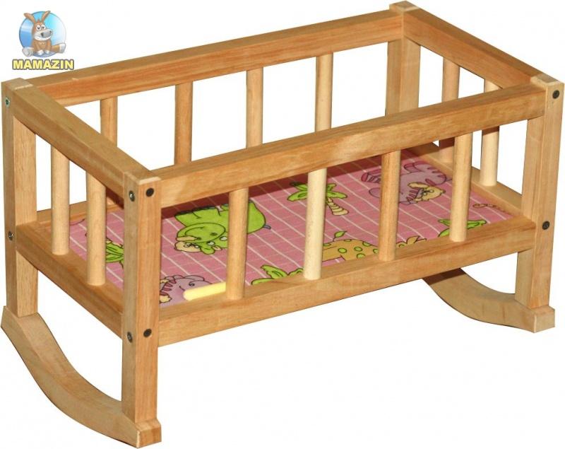 Кроватка кукольная, деревянная