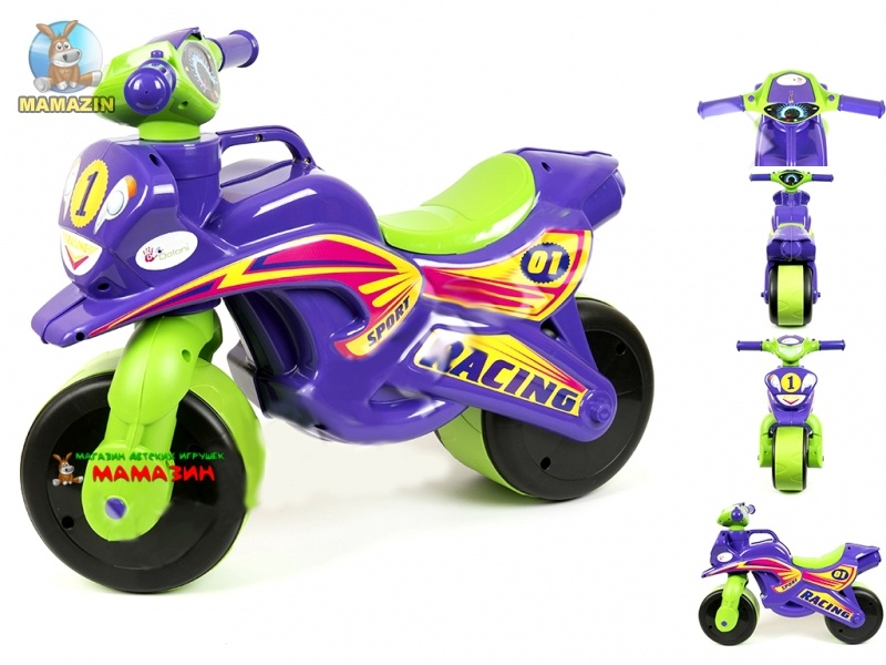 Мотоцикл-каталка МотоБайк Спорт (музыкальная)