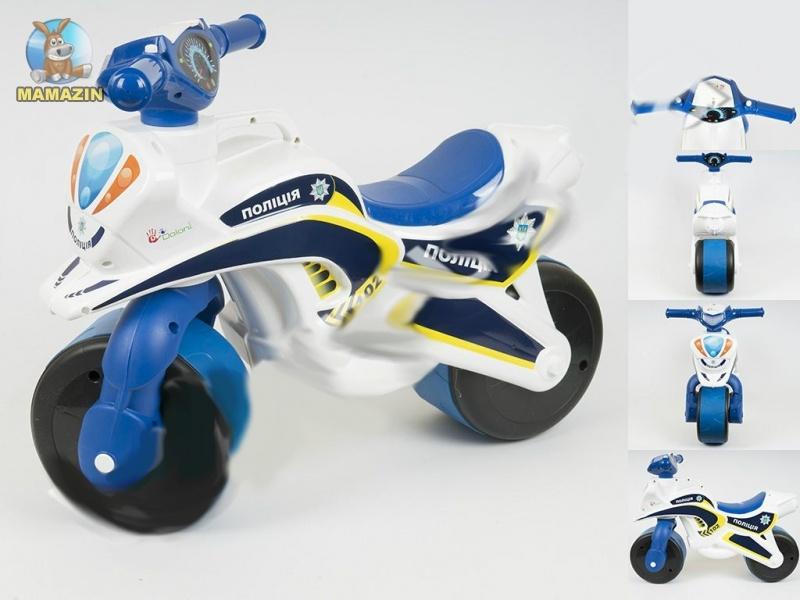 Мотоцикл-каталка МотоБайк Полиция (музыкальная)
