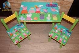 "Стол-пенал + 2 стула ""Свинка Пеппа"""