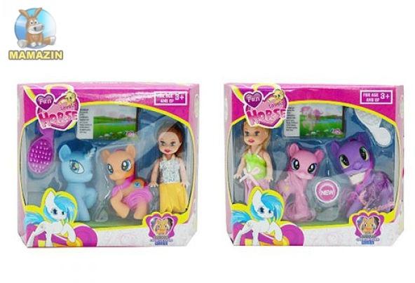 Лошадка литл пони с куколкой