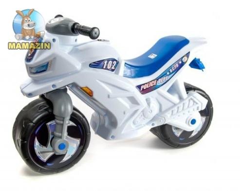 Мотоцикл для катания 2-х колесный БЕЛЫЙ, с каской