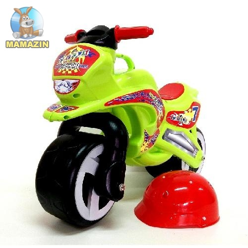 Каталка Мотоцикл с каской
