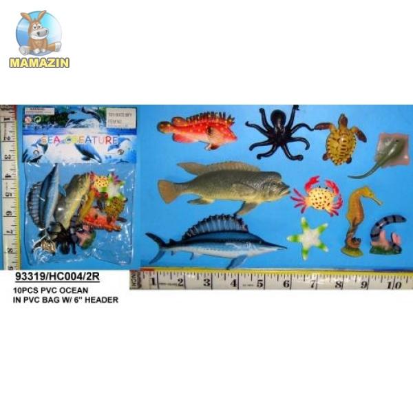 Морские животные (резиновые)