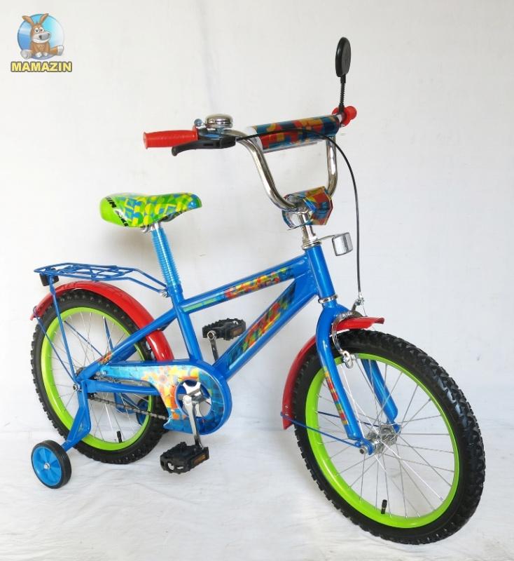 """Велосипед детский 2-х колесный Super Bike 20"""", сине-зеленый"""