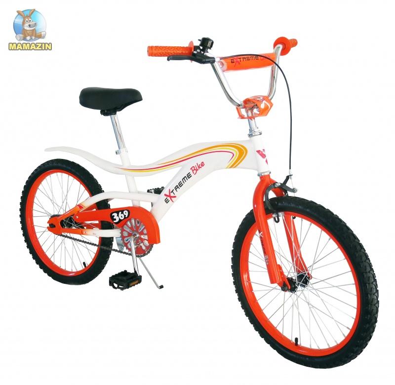 """Велосипед детский 2-х колесный Extreme Bike 20"""", бело-оранжевый"""