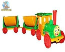 Поезд-конструктор  салатовый