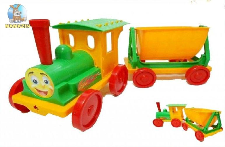 Поезд- конструктор, салатовый