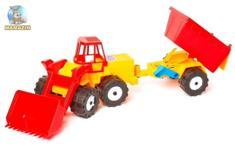 Трактор Шустрик-скрапер №1