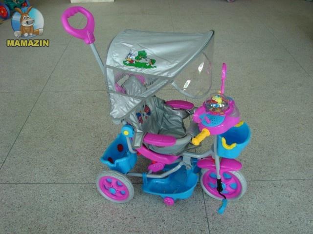 Велосипед детский 3-х колесный с крышей