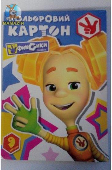 """Набор картона цветного в папке, А4 """"Фиксики"""""""