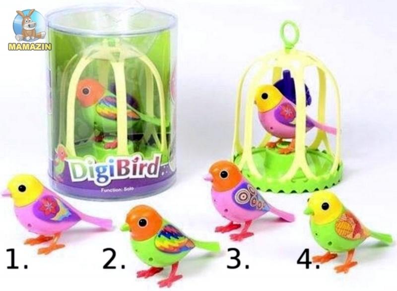 Птички музыкальные Digi Birds в клетке