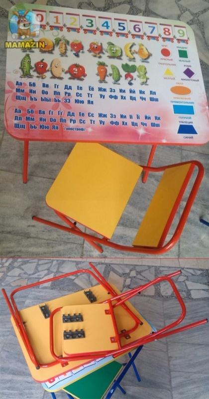 Стол металлический складной + стул