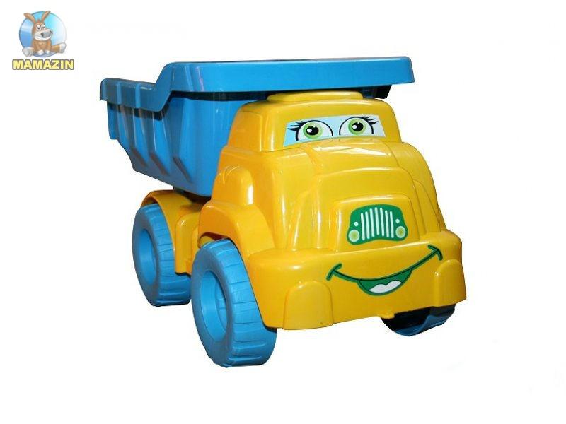 Машина для песка №3 желто-голубой