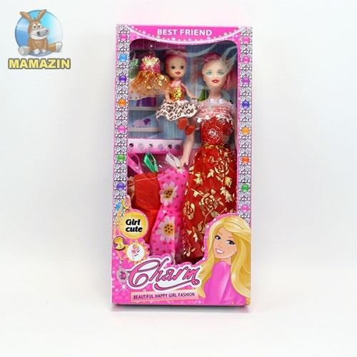 Кукла с дочкой и набором одежды