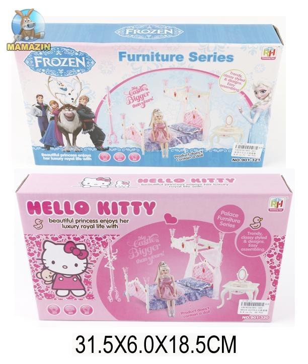 "Мебель для кукол спальня, ""Frozen"" ""Hello Kitty"""