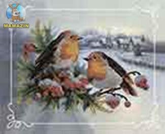 """Вышивка бисером """"Пара птиц № 2"""""""