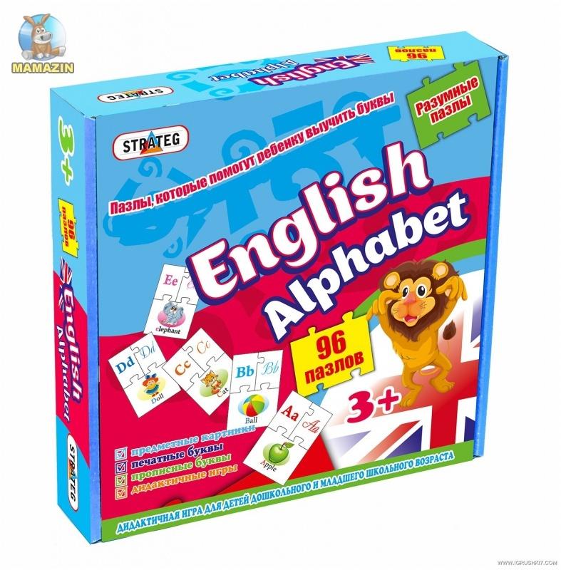 Развивающие пазлы для детей English Alphabet (Английский Алфавит)