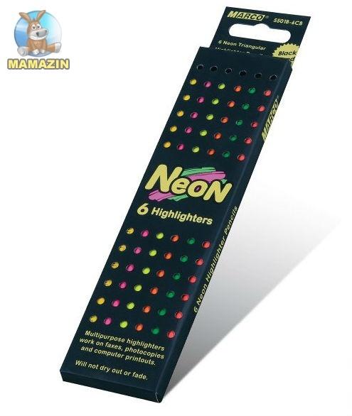 Карандаши   6 неоновых цветов шестигранные, Neon