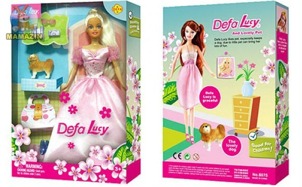 Кукла DEFA невеста с собачкой