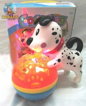 """Музыкальная игрушка """"Собака с мячиком"""""""