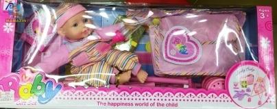 Кукла-пупс с коляской и аксессуарами