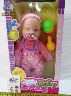 Кукла-пупс музыкальная с погремушкой