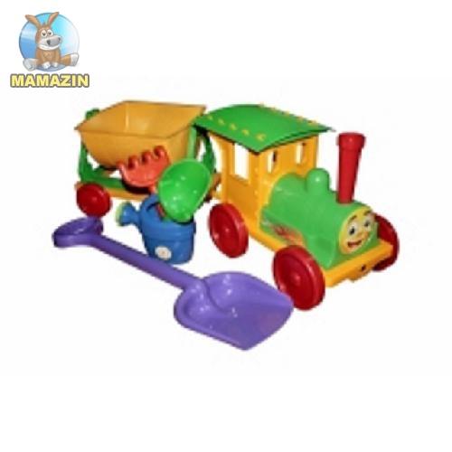 Поезд-конструктор с песочним набором №1 салатовый